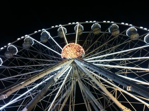 Weihnachtsbeleuchtung Riesenrad. Foto von mir.